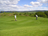 Bala Golf Course in the Snowdonia National Park Gwynedd North Wales