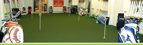 Indoor Putting Studio