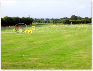driving range at moorend golf course, bramhall, cheshire